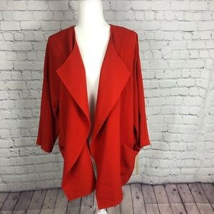 NWT Laura Ashley open waterfall front light jacket